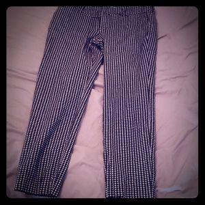 Cropped hounds tooth pant